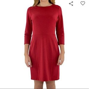 Jude Connally Heidi Red Sheath Dress SZ M EUC